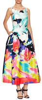 Milly Printed Tea Length Dress