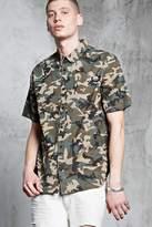 21men 21 MEN Camo Print Shirt