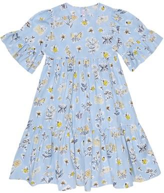 Il Gufo Floral-printed cotton dress