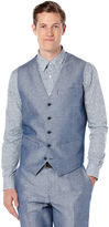 Perry Ellis Regular Fit Linen Twill Suit Vest