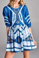 Racine Geo-Print Mini Dress