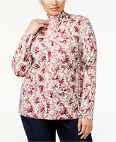 Karen Scott Plus Size Mock-Neck Top, Created for Macy's