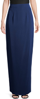 Monique Lhuillier Women's Long Column Silk Skirt