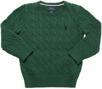 Ralph Lauren Cotton Cable Tricot Knit Sweater