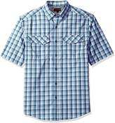 Wolverine Men's Pentwater Vented Back Plaid Short Sleeve Shirt