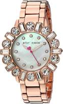 Betsey Johnson Women's BJ00612-03 Mixed Crystal Bezel Rose Gold Case and Bracelet Watch