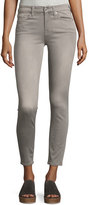 7 For All Mankind The Ankle Mid-Rise Skinny Jeans, Gray
