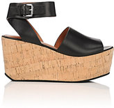 Derek Lam 10 Crosby WOMEN'S FAYE LEATHER PLATFORM WEDGE SANDALS