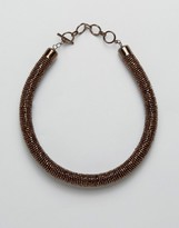 Oasis Beaded Roll Collar Necklace
