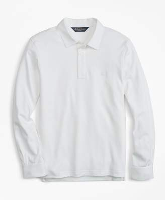 Brooks Brothers Slim Fit Cotton Jersey Long-Sleeve Polo Shirt