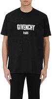 Givenchy Men's Destroyed Logo T-Shirt-BLACK