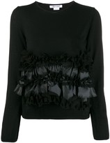 Comme des Garcons ruffle front sweater