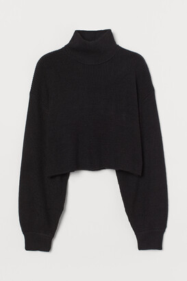 H&M Cropped Turtleneck Sweater