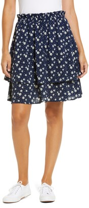 Gibson Tiered Mini Skirt