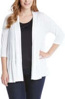 Karen Kane Plus Size Women's Tiered Open Jersey Jacket