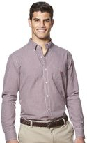 Chaps Men's Classic-Fit Gingham-Checked Easy-Care Button-Down Shirt