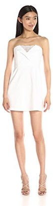 BCBGMAXAZRIA Azria Women's Madelaine Cocktail Dress with Lace Inset
