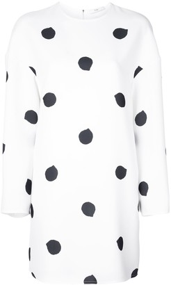 Tibi Polka Dot Print Dress
