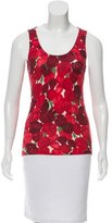 Oscar de la Renta Wool Scoop Neck Top