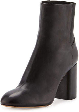 Rag & Bone Agnes Leather Ankle Boot, Black