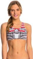 Triflare Women's Stars and Stripes Sport Bikini Top 8143880