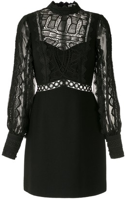 Martha Medeiros Natalia lace mix dress