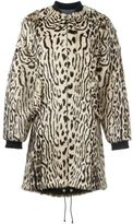 Giambattista Valli animal print coat - women - Goat Fur/Polyester/Viscose/Wool - 42