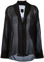 RtA shawl lapel sheer shirt