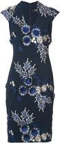 Badgley Mischka floral cap sleeve dress