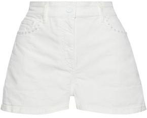 Solid & Striped Floral-appliqued Denim Shorts