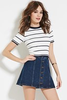 Forever 21 Stripe Crop Top