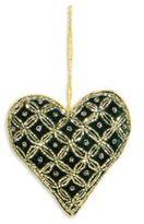 Velvet Beaded Heart Ornament