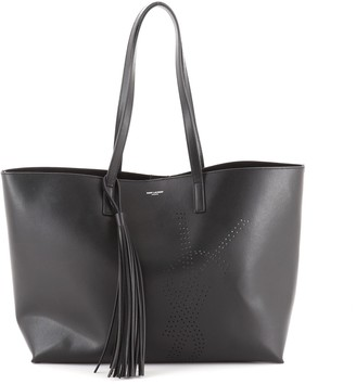 Saint Laurent Shopper Tote Perforated Leather Large