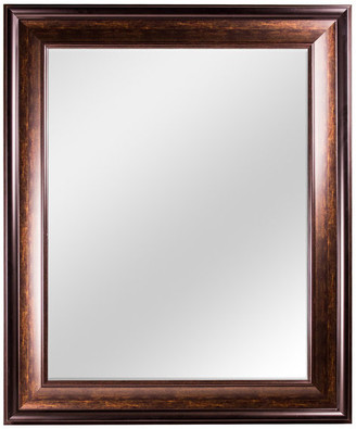 American Art Decor Hartley Brown Antiqued Vanity Wall Mirror
