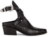 Zeynep Arcay Leather Cowboy Sobo Ankle Boots in Black | FWRD