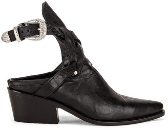 ZEYNEP ARCAY Leather Cowboy Sobo Ankle Boots in Black | FWRD