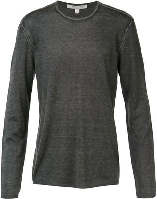 John Varvatos reverse print long sleeve sweater