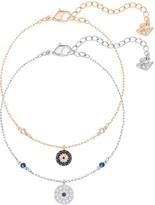 Swarovski Crystal Wishes Evil Eye Bracelet Set, Blue