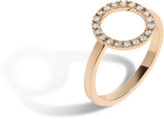 AUrate New York Diamond Circle Ring with White Diamonds
