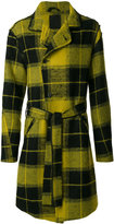 Lost & Found Ria Dunn - plaid double-breasted coat - men - Cotton/Linen/Flax/Polyamide/Wool - S