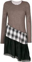 MM6 MAISON MARGIELA asymmetric layered dress - women - Cotton/Polyamide/Spandex/Elastane/Wool - XS
