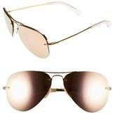 Ray-Ban Women's Highstreet 59Mm Semi Rimless Aviator Sunglasses - Brown/ Pink