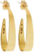 Lana 14k Small Narrow Gloss Hoop Earrings