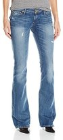 True Religion Women's Joey Low Flare with Flaps Jean