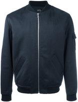 A.P.C. Bomber jacket - men - Cotton/Linen/Flax/Acrylic/Wool - XL