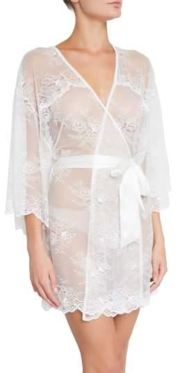 Eberjey Aurora Short Lace Robe
