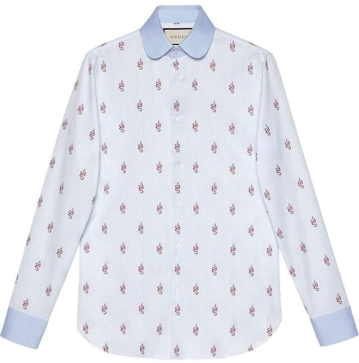 Gucci Kingsnakes fil coupé Oxford shirt