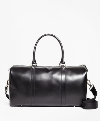 Brooks Brothers Leather Duffle Bag