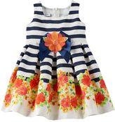 Bonnie Jean Toddler Girl Striped Floral Dress