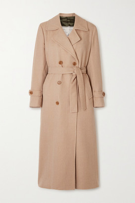 Giuliva Heritage Collection The Christie Belted Double-breasted Wool-gabardine Trench Coat - Sand